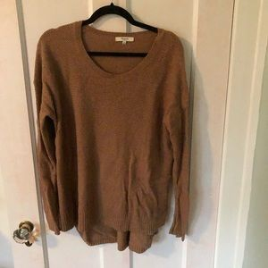 Camel colored madewell sweater